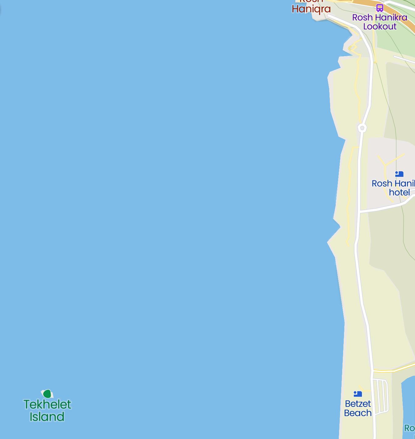 صورة توضّح موقع جزيرة تخيليت