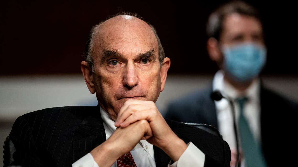 US Special Representative for Iran and Venezuela, Elliott Abrams, attends a Senate Committee on Foreign Relations hearing on US Policy in the Middle East on Capitol Hill in Washington, DC on September 24, 2020.