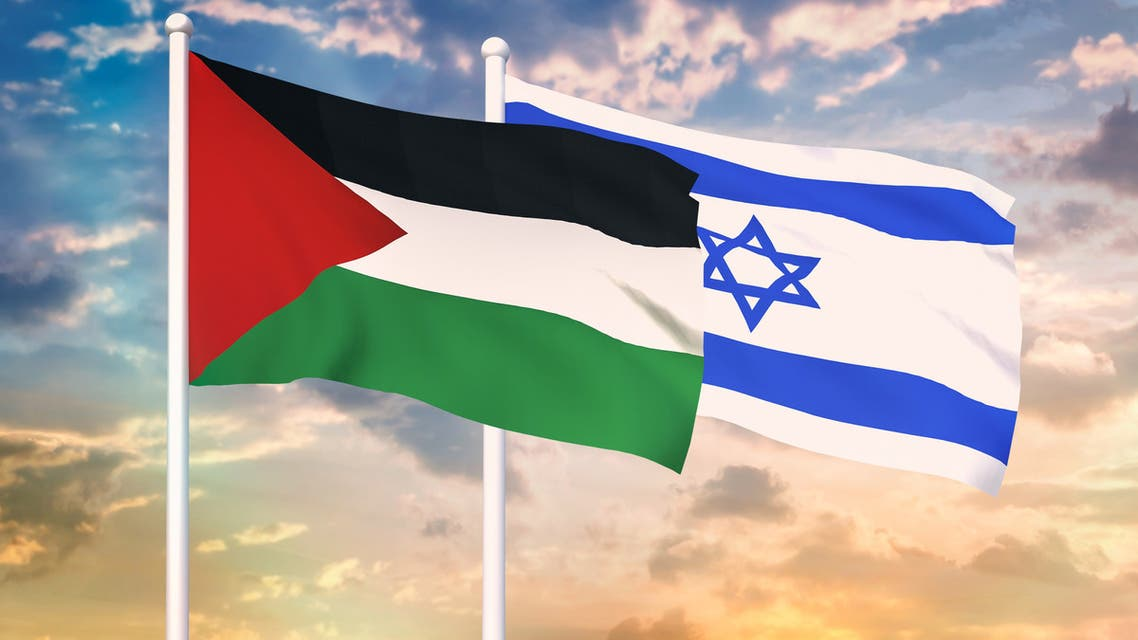Palestine and Israel conflict. stock photo