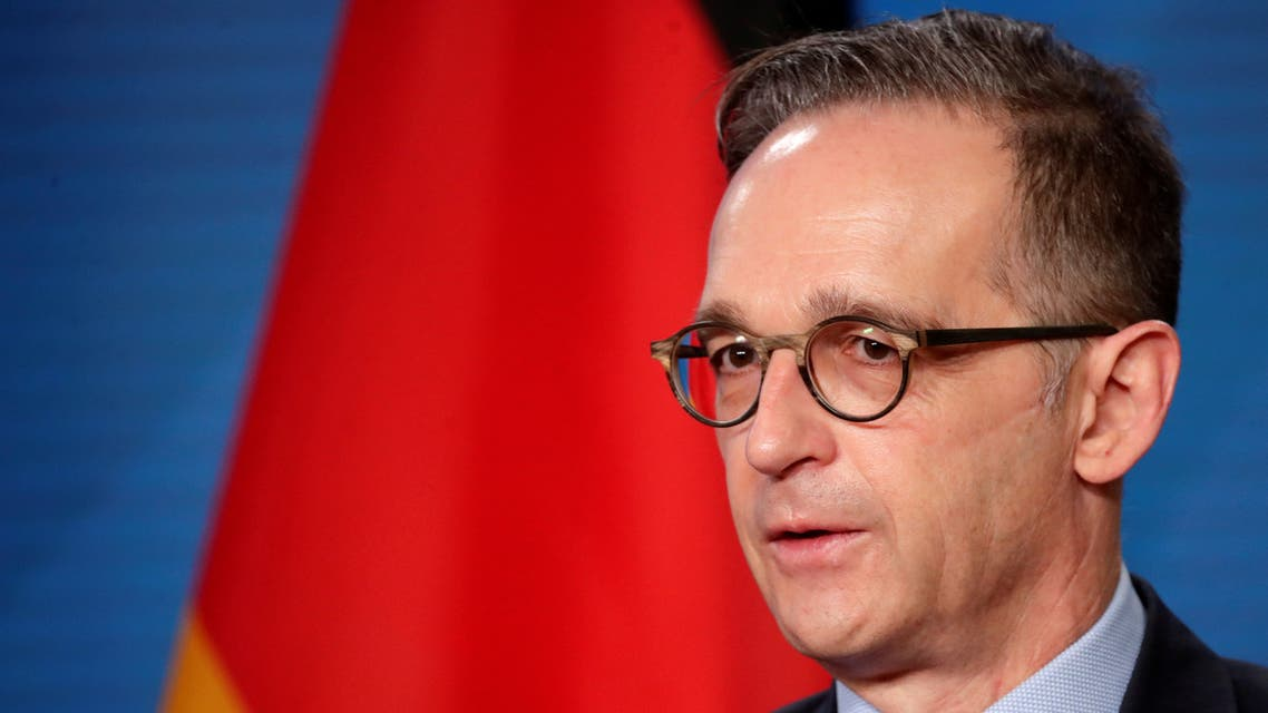 German Foreign Minister Heiko Maas speaks during a news conference following a meeting with his Palestinian counterpart Riyad al-Maliki, in Berlin, Germany November 17, 2020. REUTERS/Hannibal Hanschke/Pool