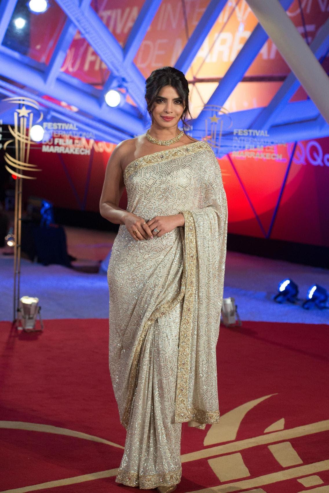 بريانكا في مهرجان مراكش للأفلام السينمائية في العام 2019