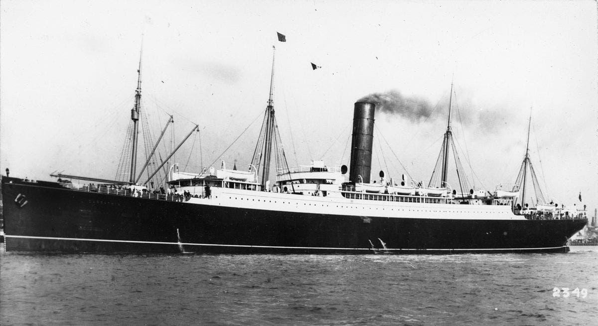 صورة للسفينة أر أم أس كارباثيا التي أنقذت عددا من ركاب التيتانيك