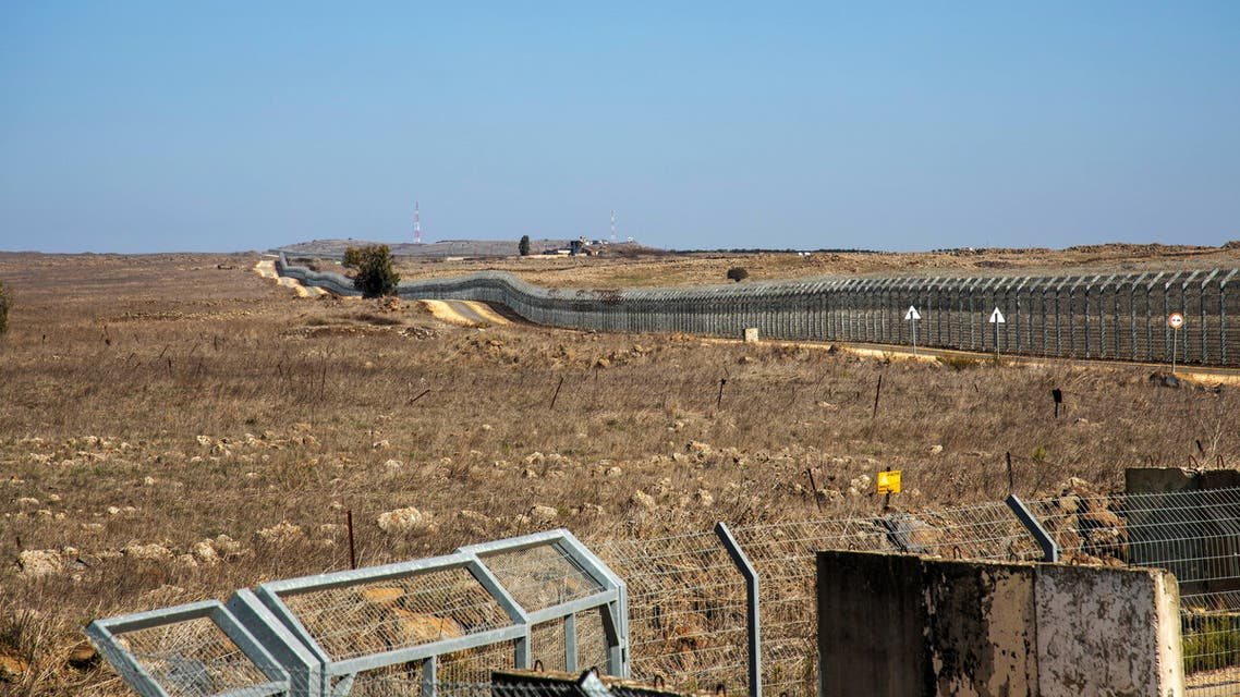 A general view picture shows a security fence near the border area between Israel and Syria, in the Israeli-occupied Golan Heights November 18, 2020. REUTERS/Hamad Almakt