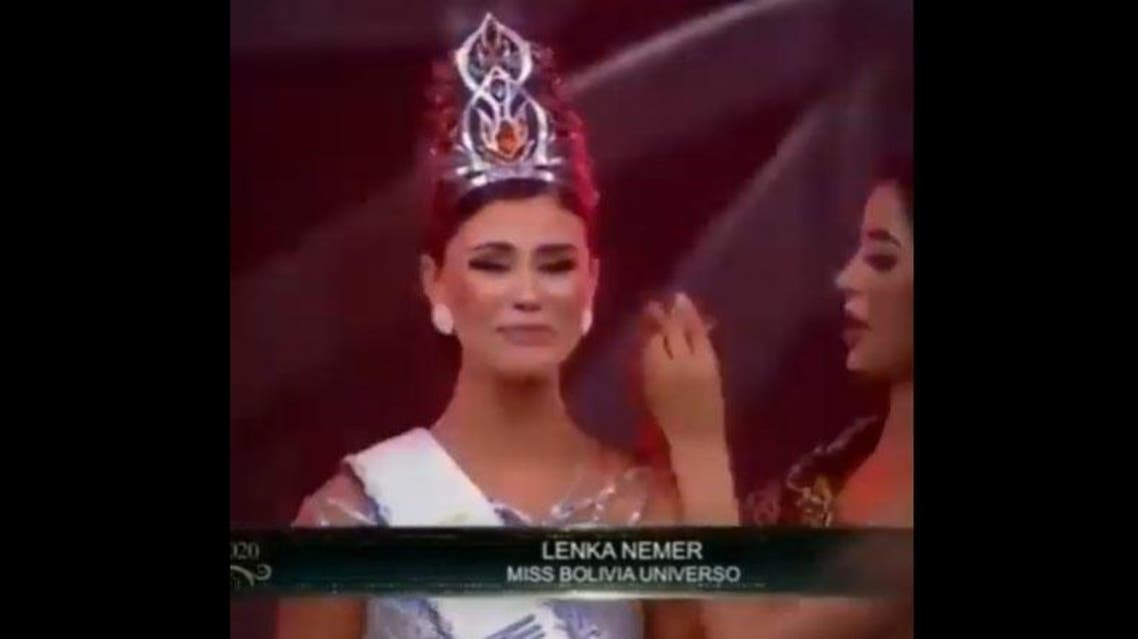 Beauty of Lebanon win the crown of Miss Bolivia