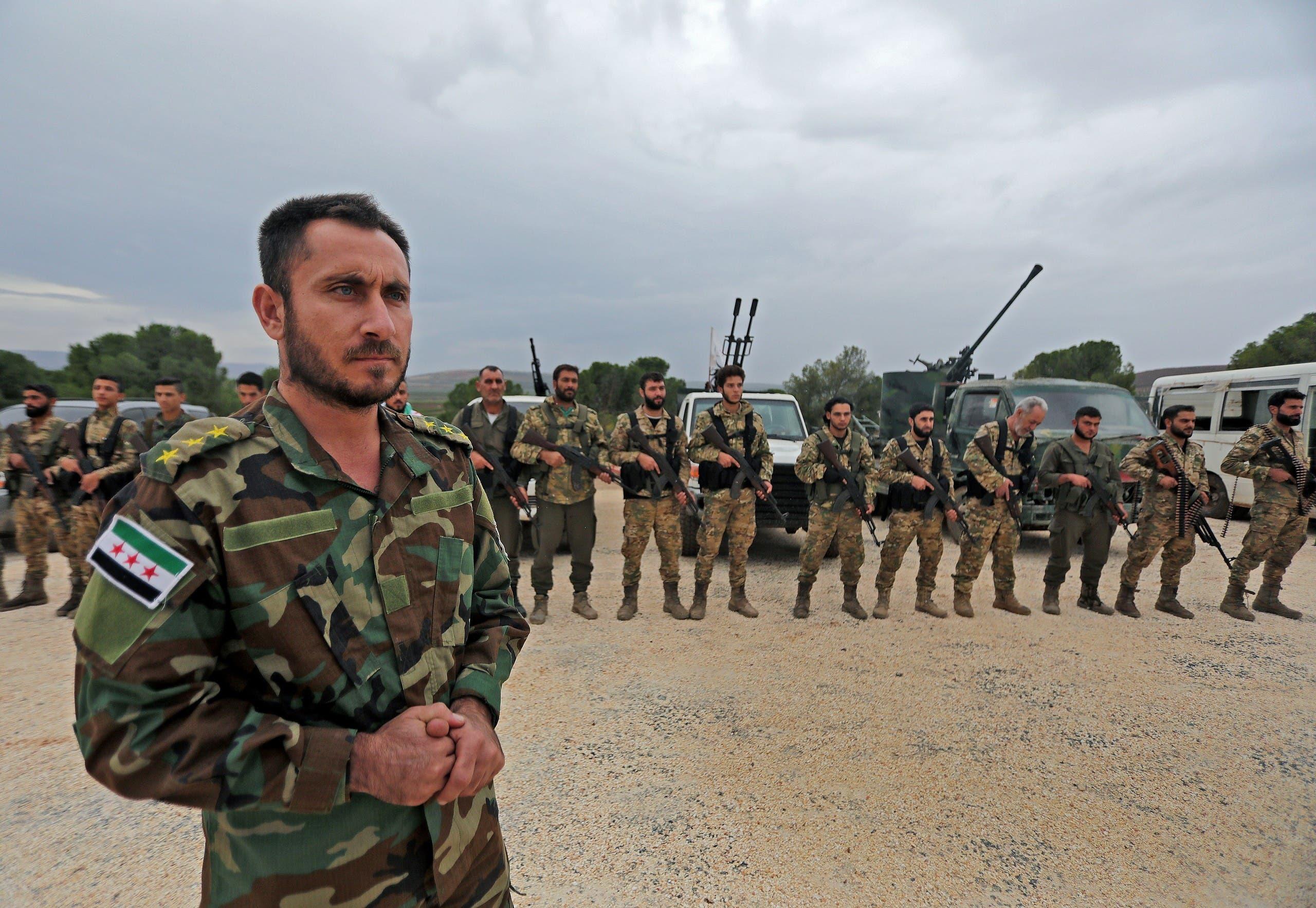 مقاتلون مولون لتركيا في سوريا (أرشيفية)