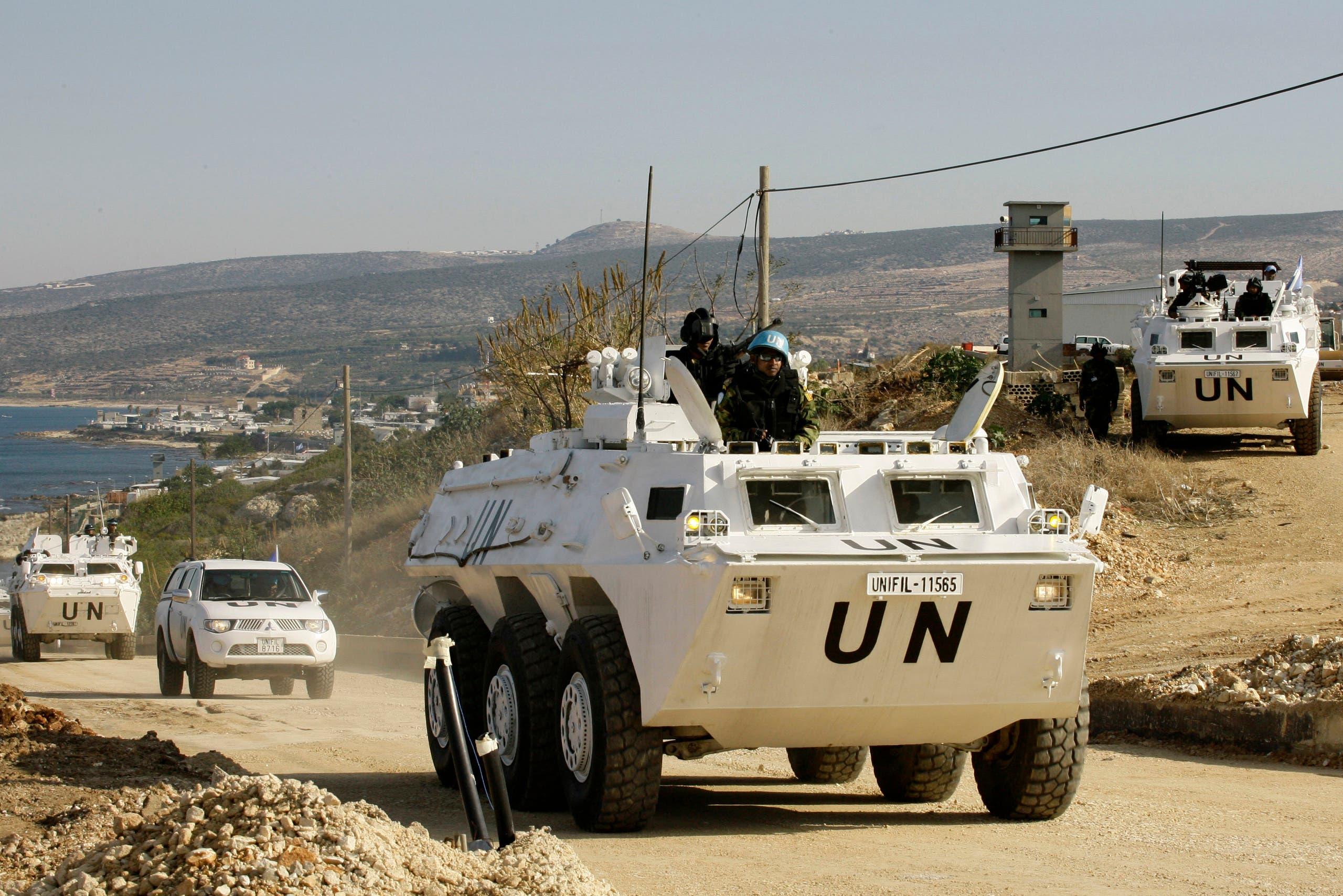قوات اليونيفيل في بلدة راس الناقورة اللبنانية (أرشيفية)