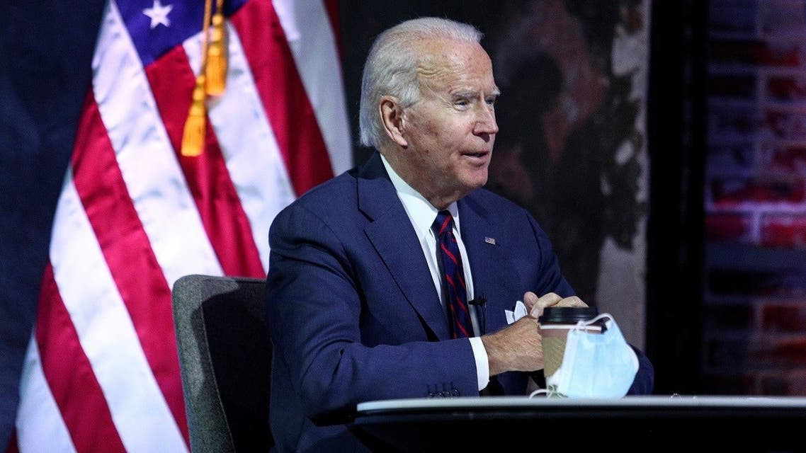 US President-elect Joe Biden receives a national security briefing in Wilmington, Delaware, US, on November 17, 2020. (Reuters)