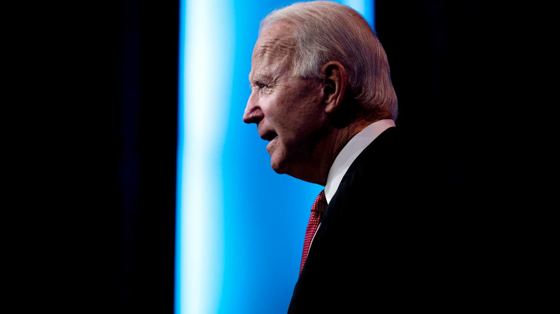 US President-elect Joe Biden speaks after a meeting with governors in Wilmington, Delaware, on November 19, 2020. Biden said today he would not order a nationwide shutdown to fight the Covid-19 pandemic despite a surge in cases.