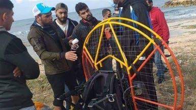 شاهد تركياً يهبط بمظلته في لبنان فيقتاده الجيش للتحقيق