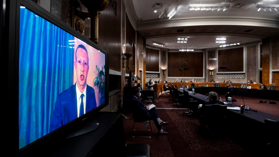 Mark Zuckerberg, Chief Executive Officer of Facebook, testifies remotely during the Senate Judiciary Committee hearing on 'Breaking the News: Censorship, Suppression, and the 2020 Election' on Capitol Hill on November 17, 2020 in Washington, DC.