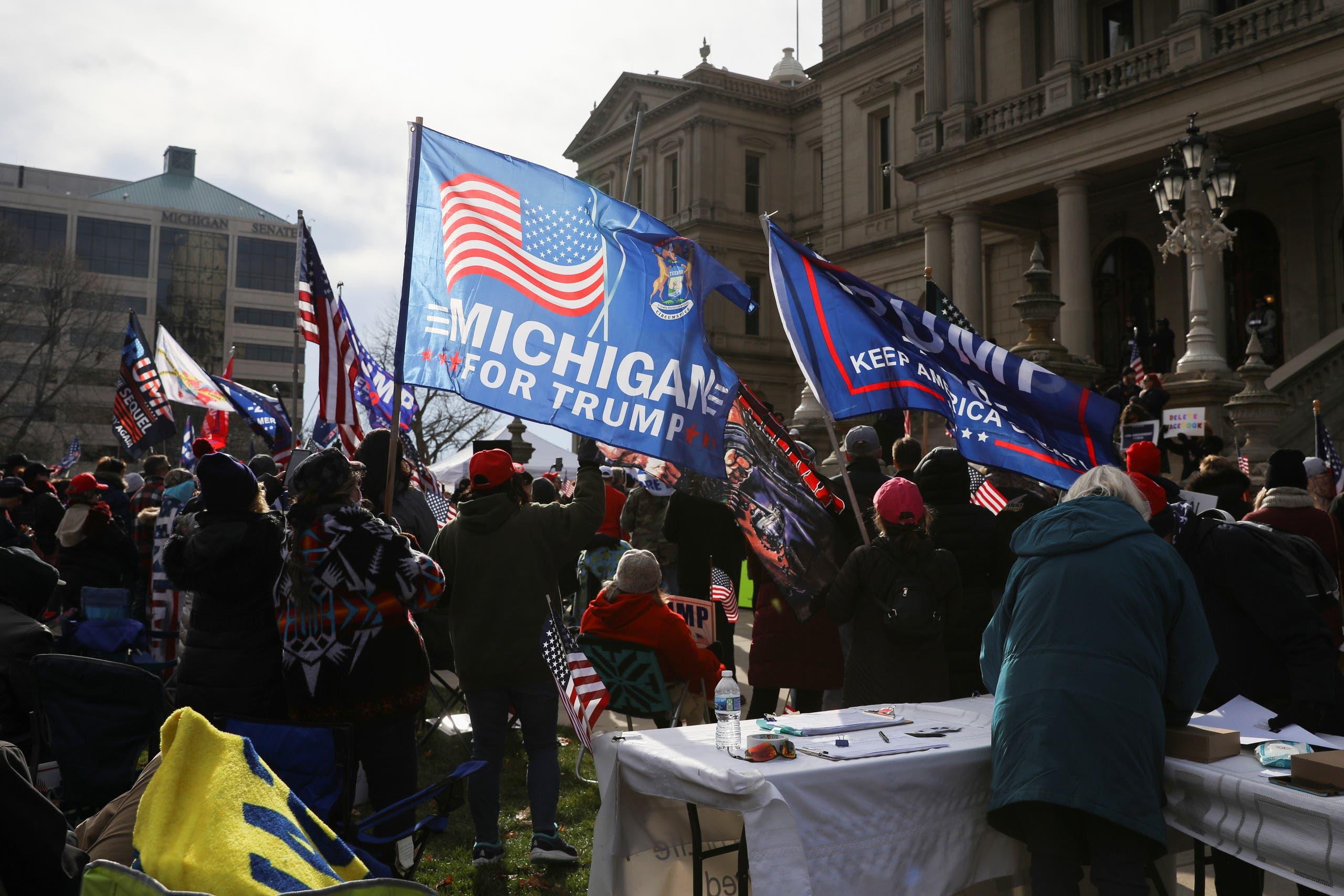 مناصرون لترمب في ميشيغان يتظاهرون ضد نتائج الانتخابات