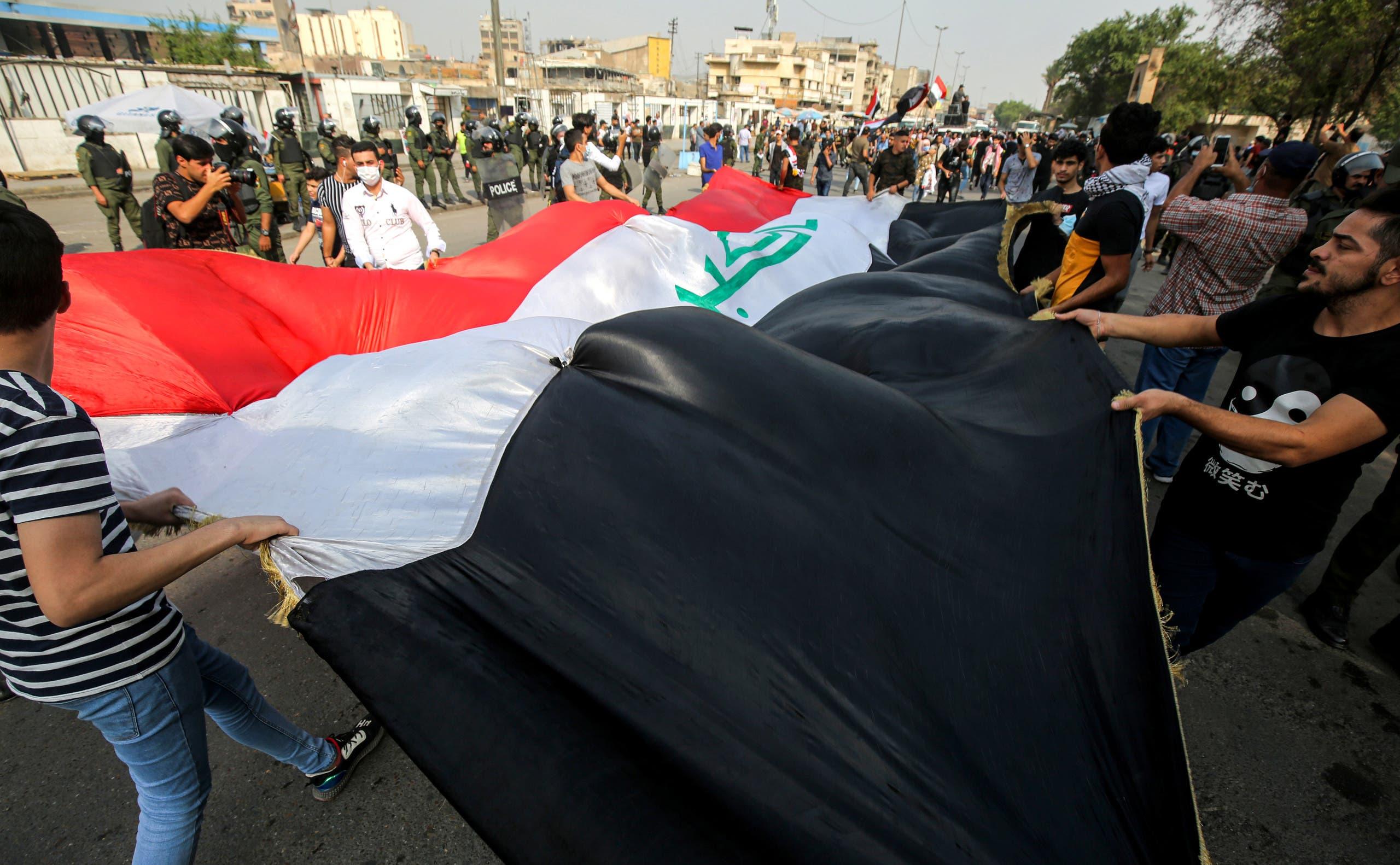 تظاهرة في بغداد ضد الفساد وتندي الخدمات