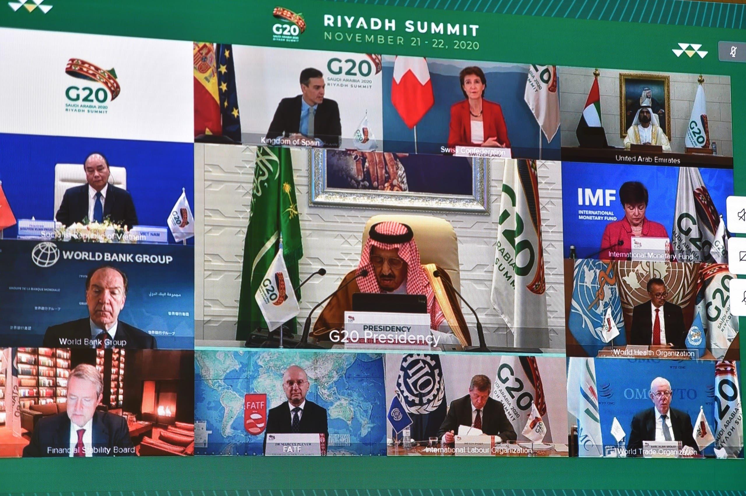 رهبران جهان به سخنان پادشاه سعودی گوش فرا میدهند