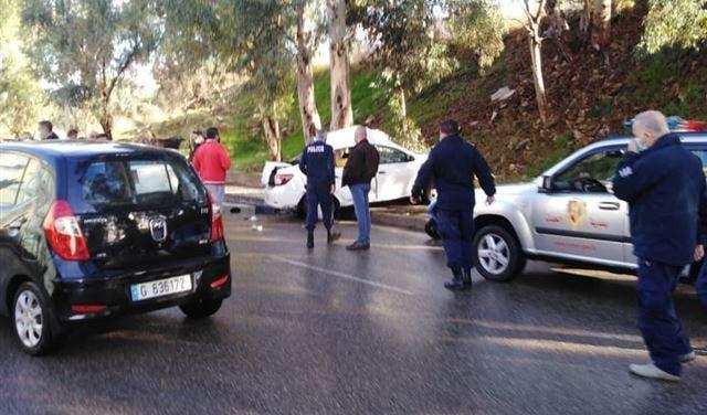 من حادث السير الذي وقع خلال مطاردة بعض المساجين