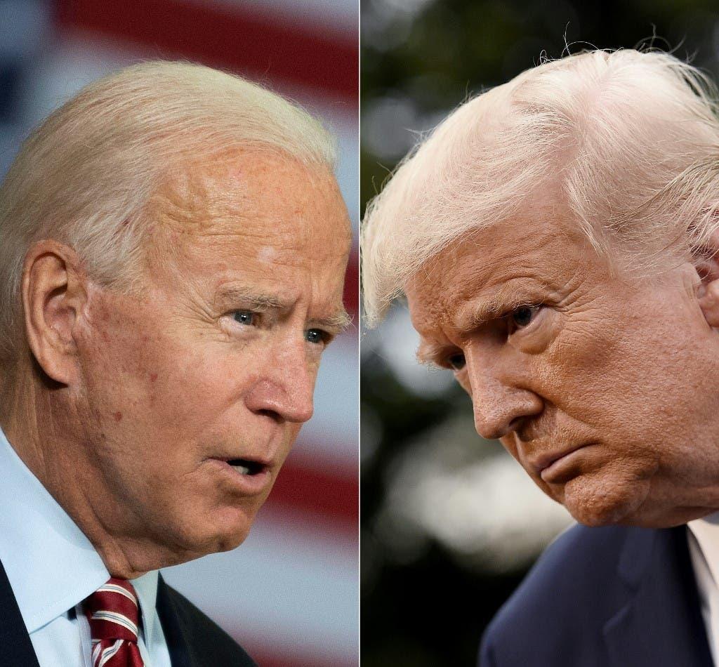 US President Joe Biden (L) and former US President Donald Trump (R). (AFP)