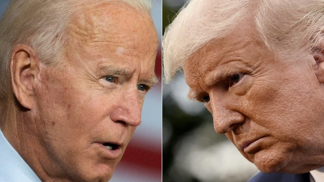 US President-elect Joe Biden (L) and US President Donald Trump (R). (AFP)