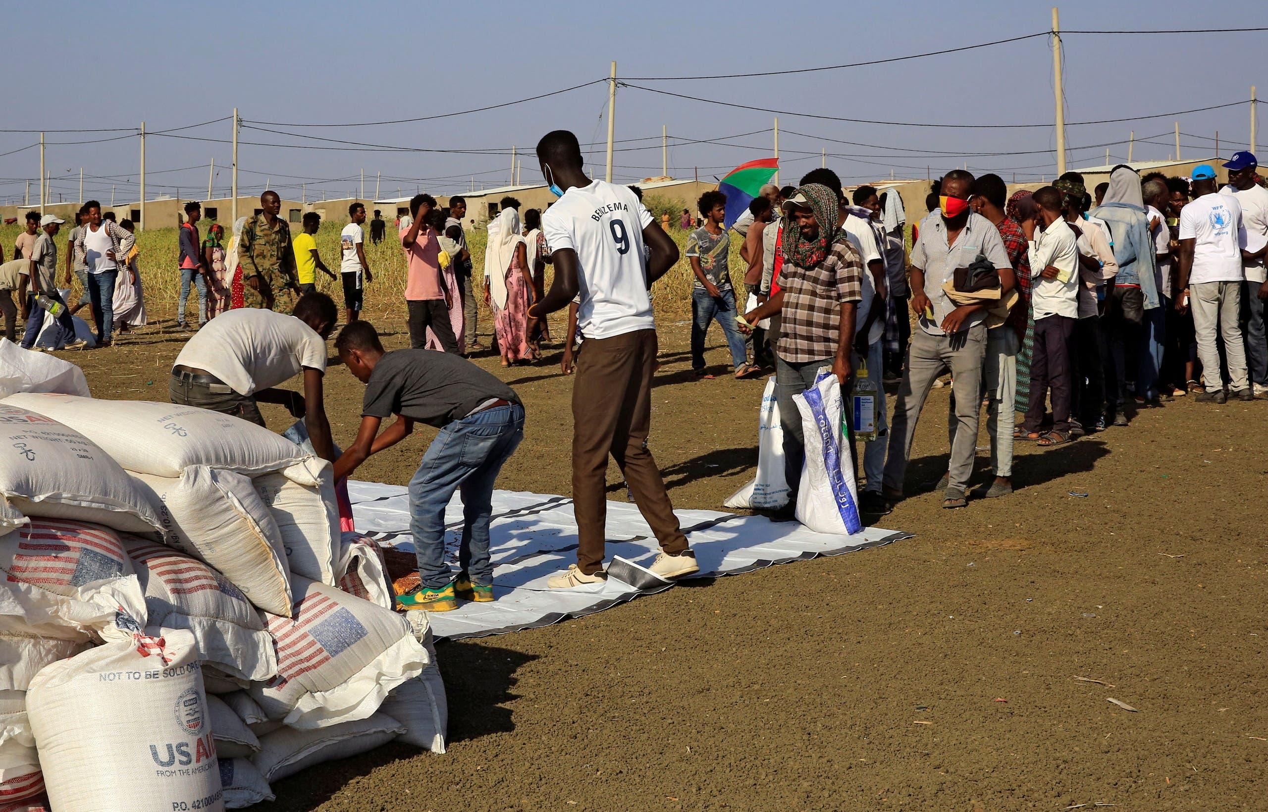 نازحون من تيغراي شمال إثيوبيا (أرشيفية- رويترز)