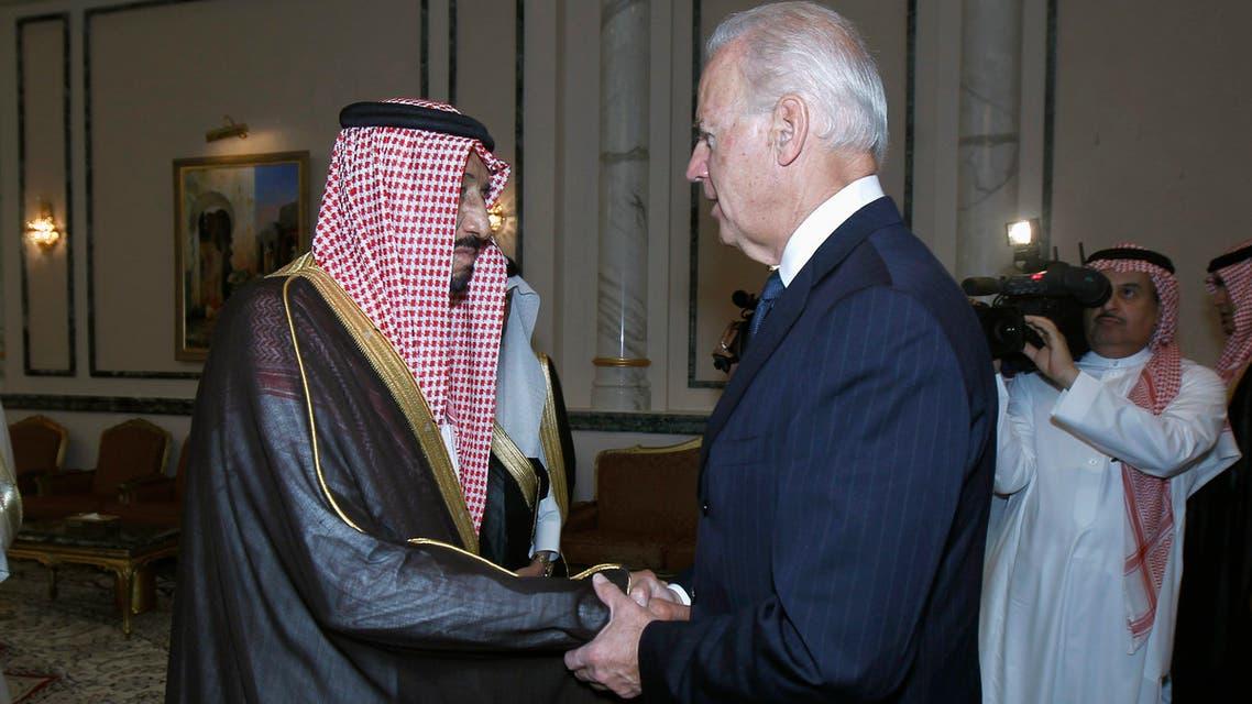 201US President-elect Joe Biden and Saudi Arabia's King Salman bin Abdelaziz in Riyadh, October 27, 2011. (File photo)1-10-27T120000Z_1140262155_GM1E7AS0BE001_RTRMADP_3_SAUDI