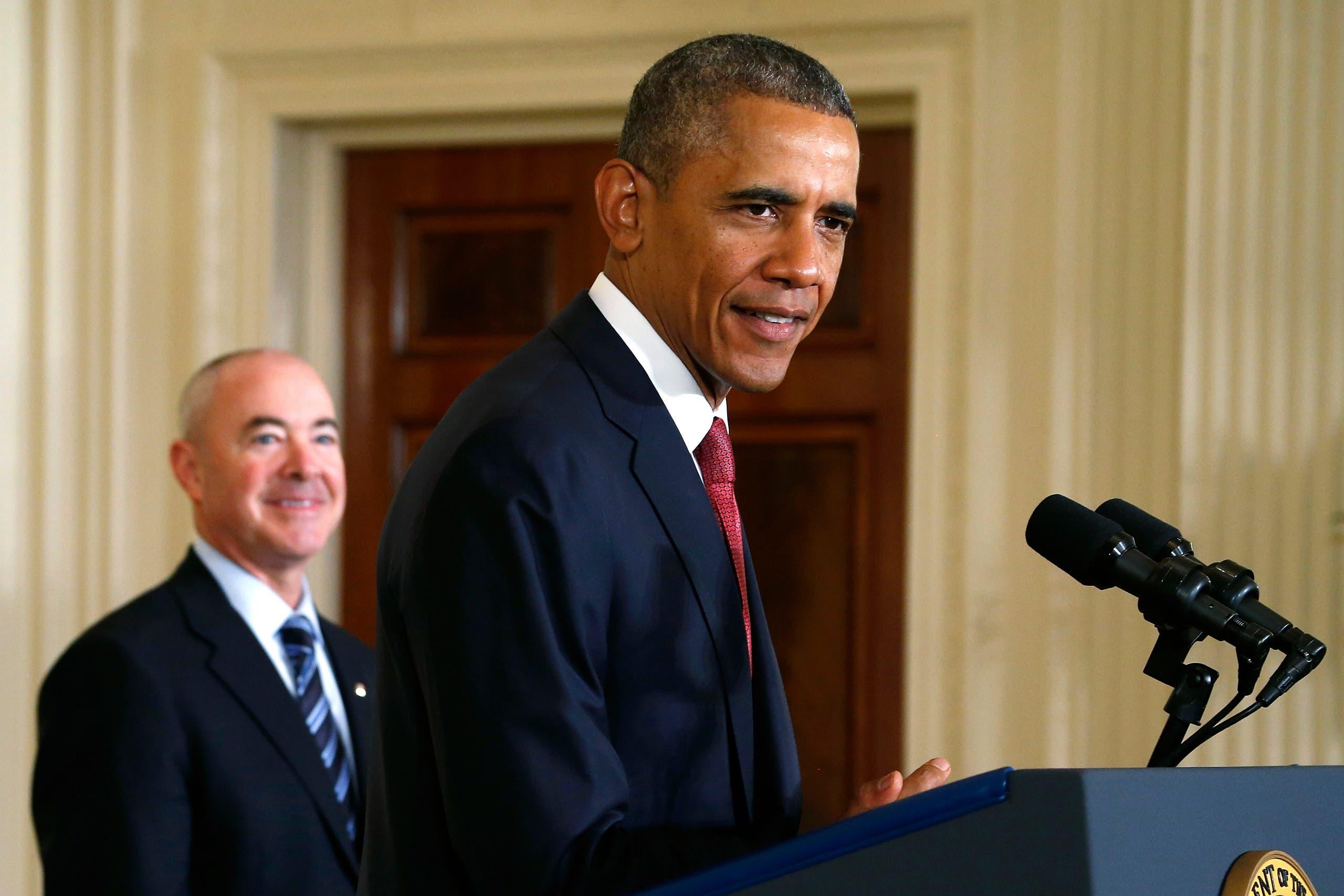 اليخاندرو مايوركاس مع أوباما