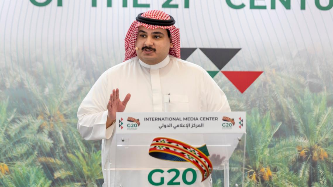 Othman al-Moamar, Y20 chair. (Via @@inspirethewld Twitter)