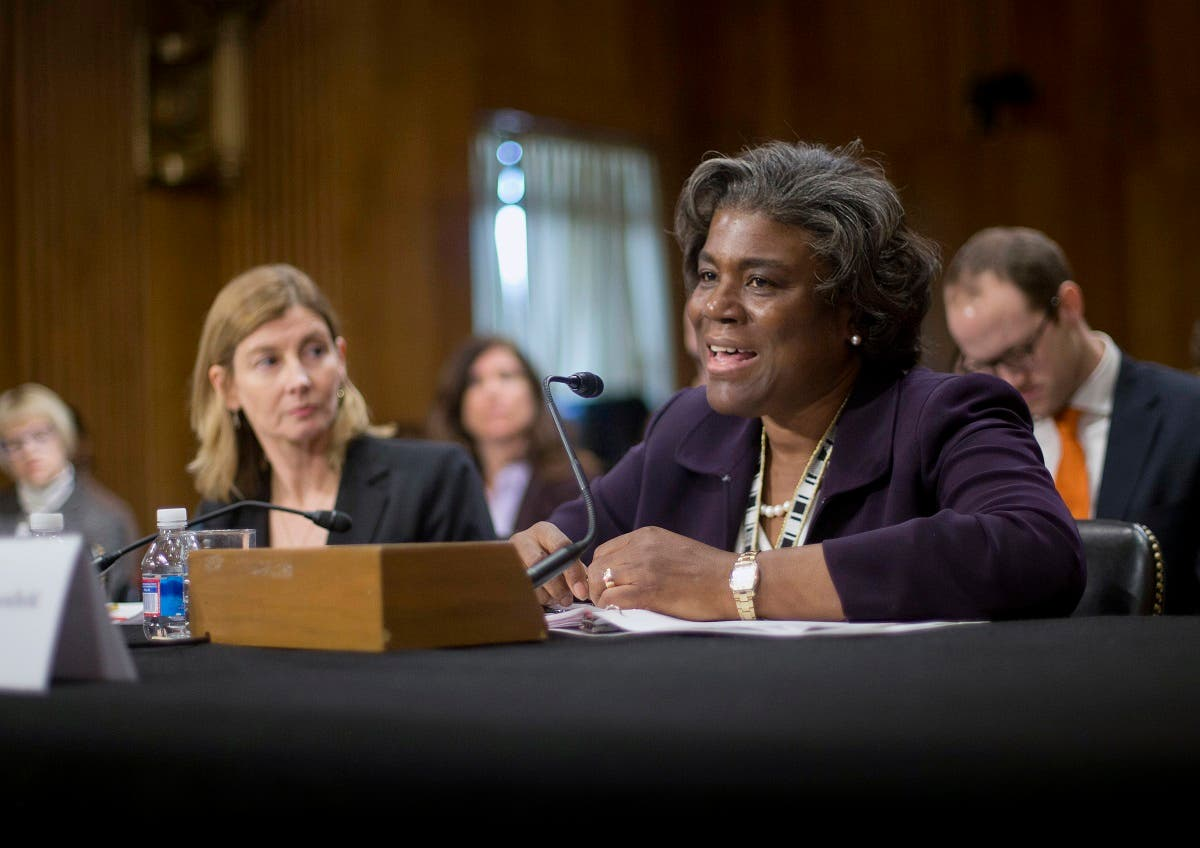 Assistant Secretary of State for African Affairs Linda Thomas-Greenfield, right, testifies during a Senate Foreign Relations Committee hearing on Capitol Hill in Washington, Jan. 9, 2014. (AP)