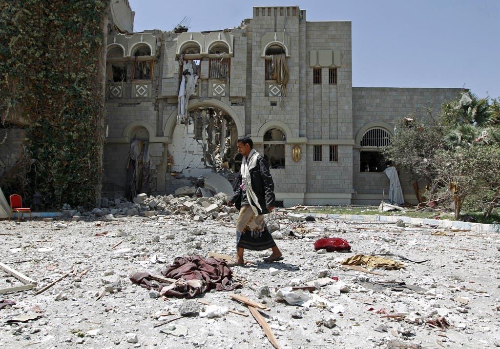 عضو شبه نظامیان حوثی در مرکز صنعا - بایگانی از فرانس پرس