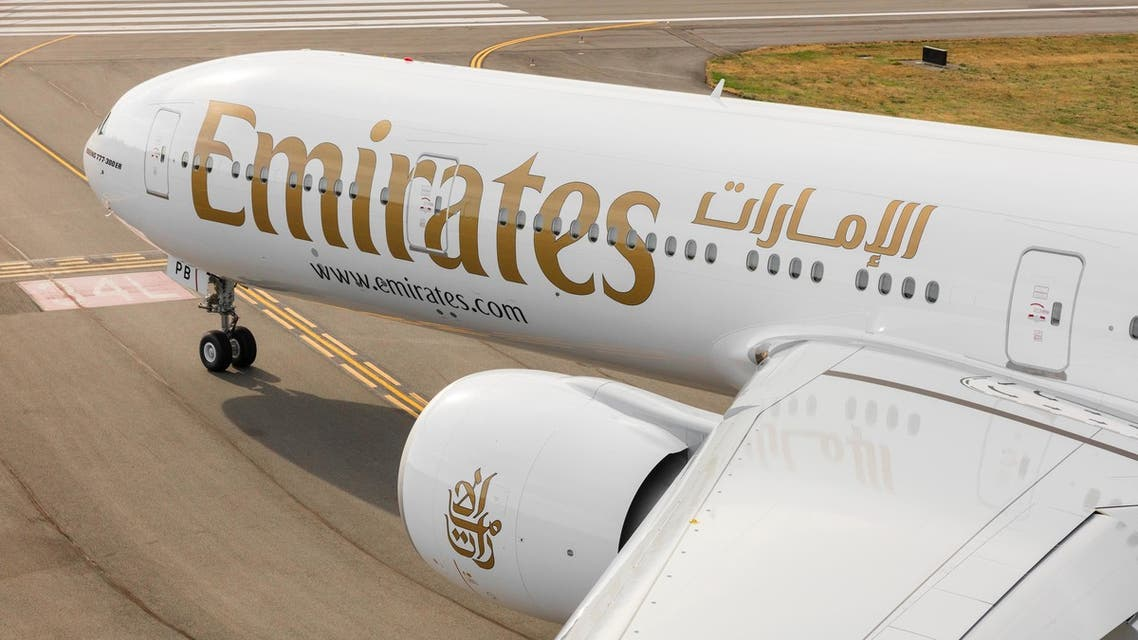 An Emirates plane on the runway. (Twitter, @Emirates)