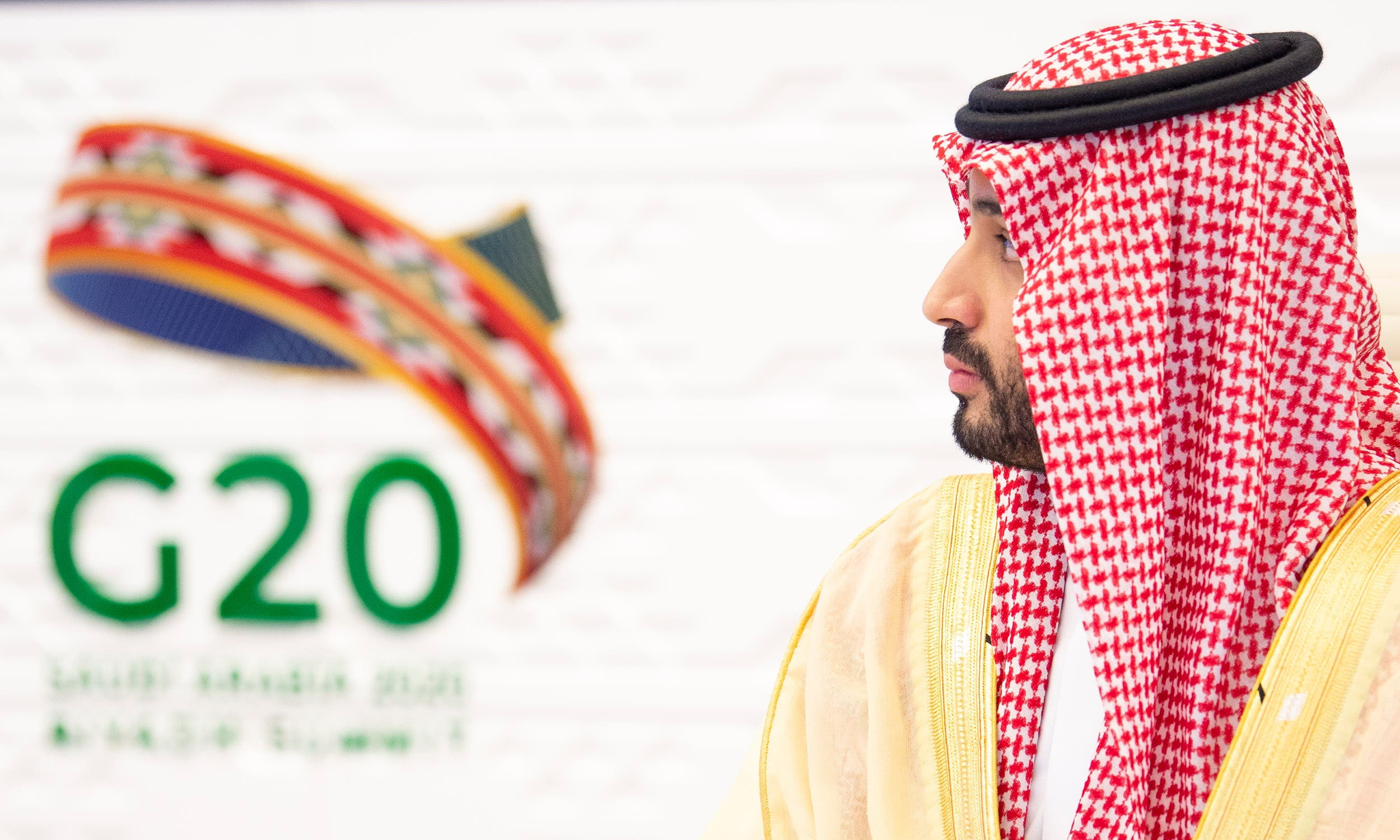 Saudi Crown Prince Mohammed bin Salman attends the 15th annual G20 Leaders' Summit in Riyadh, Saudi Arabia, November 22, 2020. (Reuters)