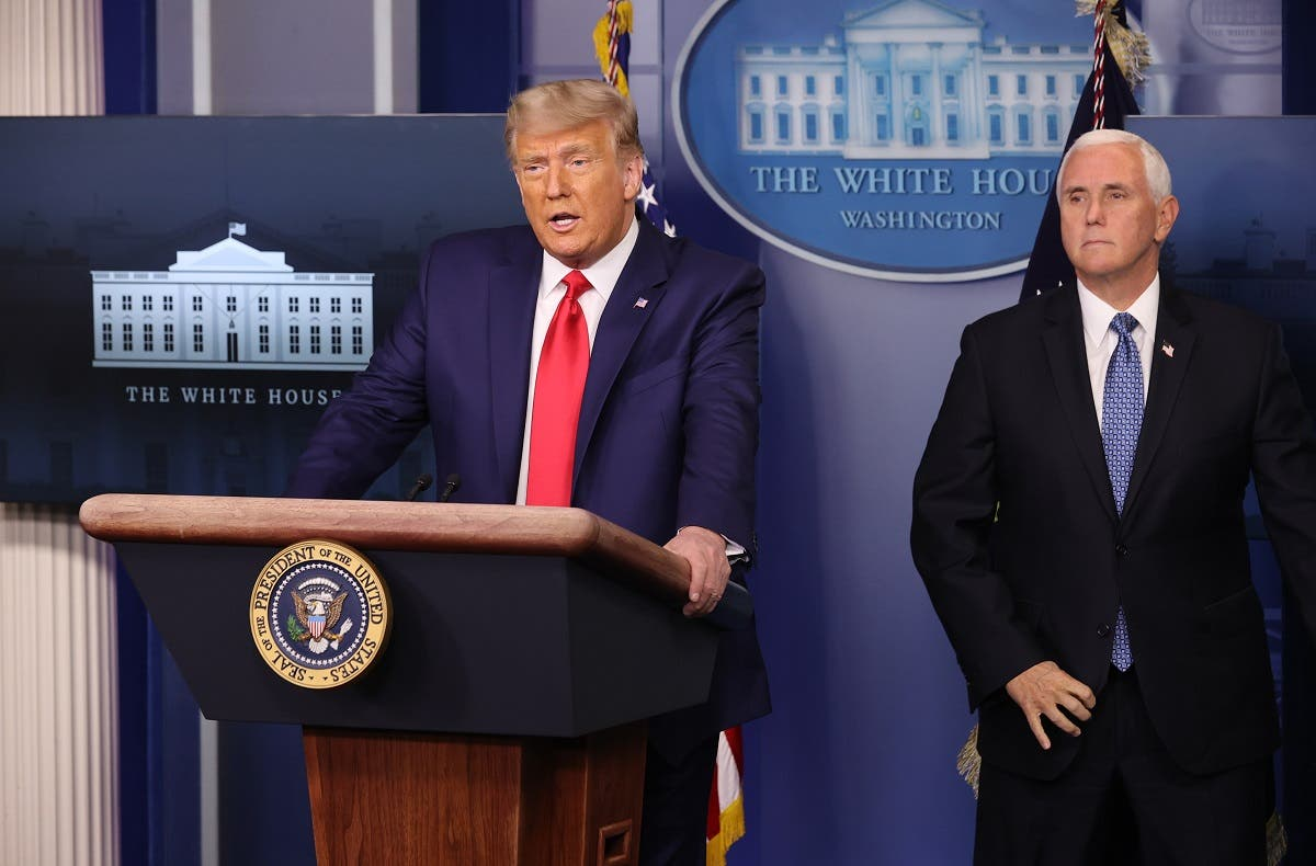 US President Donald Trump speaks as VP Mike Pence looks on at the White House, on November 24, 2020. (File photo: AFP)