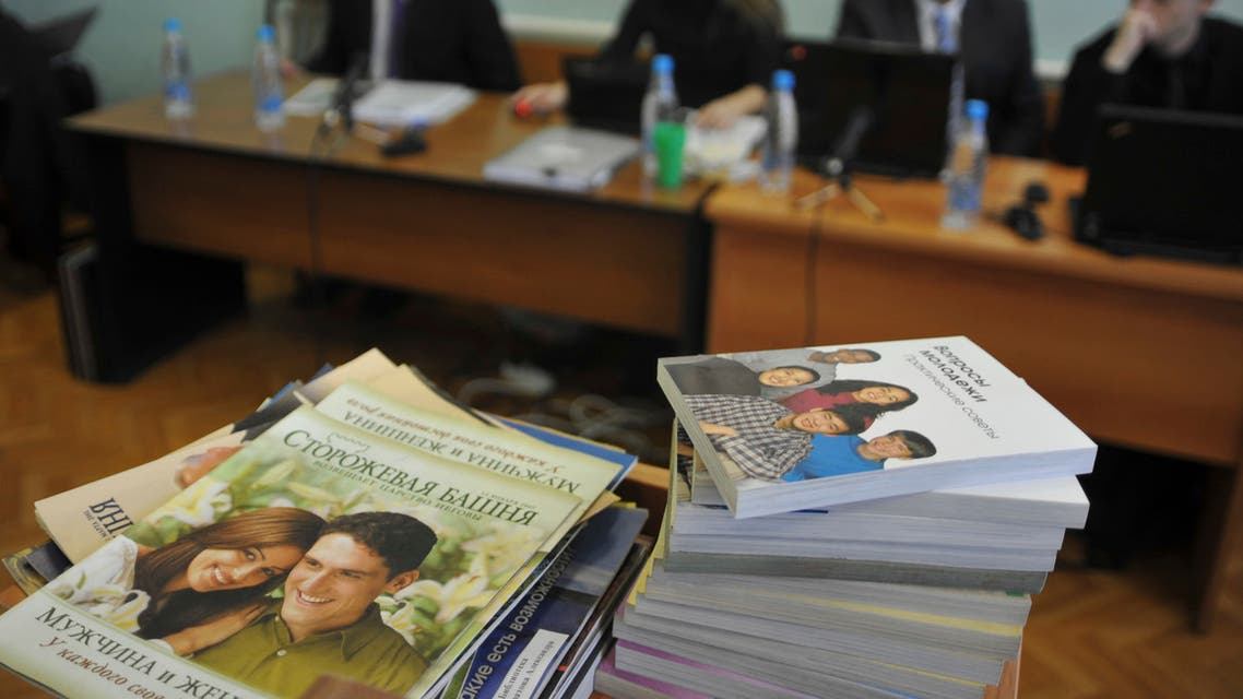 Material distributed by Russian local Jehovah's Witness leader Alexander Kalistratov during his trial for an extremism-related offence in 2010. (File photo: Reuters)
