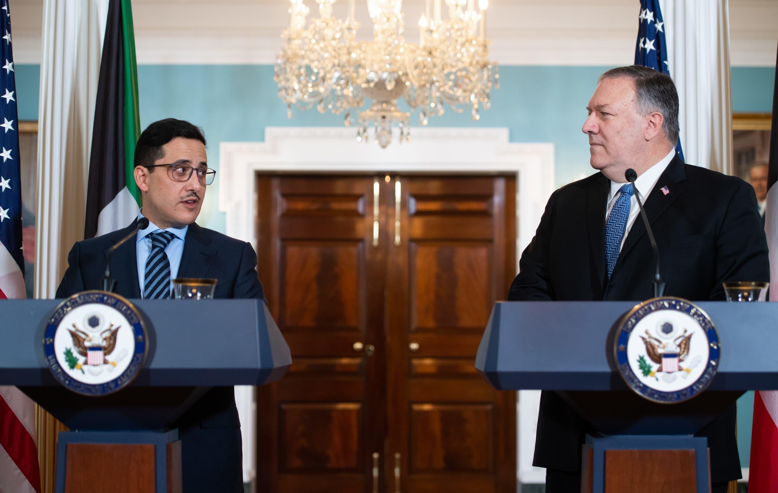 من زيارة وزير الخارجية الكويتي الأخيرة إلى واشنطن في 24 نوفمير حيث التقى نظيره الأميركي مايك بومبيو
