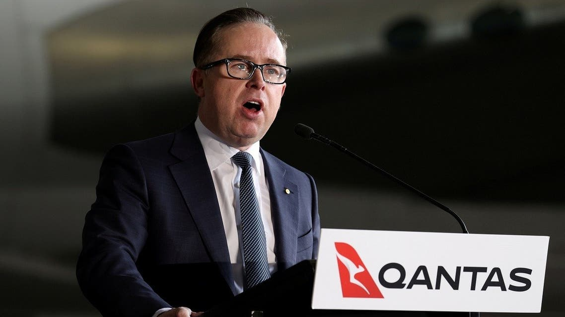 Alan Joyce, Chief Executive Officer of Qantas during a press conference held at Sydney Airport in Sydney, Australia, July 22, 2020. (Reuters/Loren Elliott)
