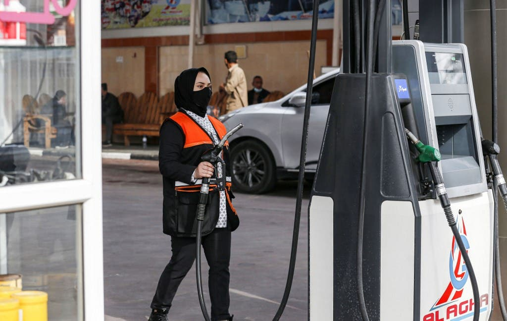 Salma al-Najjar, a 15-year-old Palestinian who works at a petrol station to help her family in Gaza Strip, 24 November 2020.