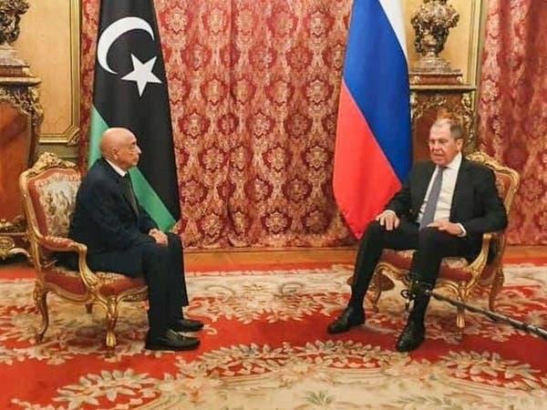 لافروف يلتقي عقيلة صالح ويبدي ارتياحا لتطورات الملف الليبي