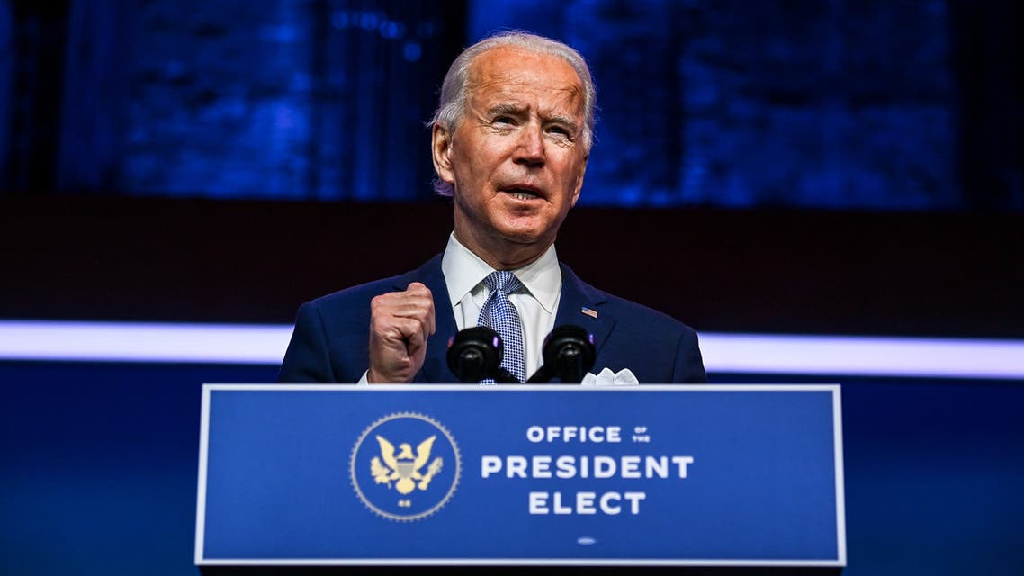 WILMINGTON, DE - NOVEMBER 24:  President-elect Joe Biden introduces key foreign policy and national security nominees and appointments at the Queen Theatre on November 24, 2020 in Wilmington, Delaware. As President-elect Biden waits to be approved for official national security briefings, the names of top members of his national security team are being announced to the public. Calls continue for President Trump to concede the election and let the transition proceed without further delay. Mark Makela/Getty Images/AFP