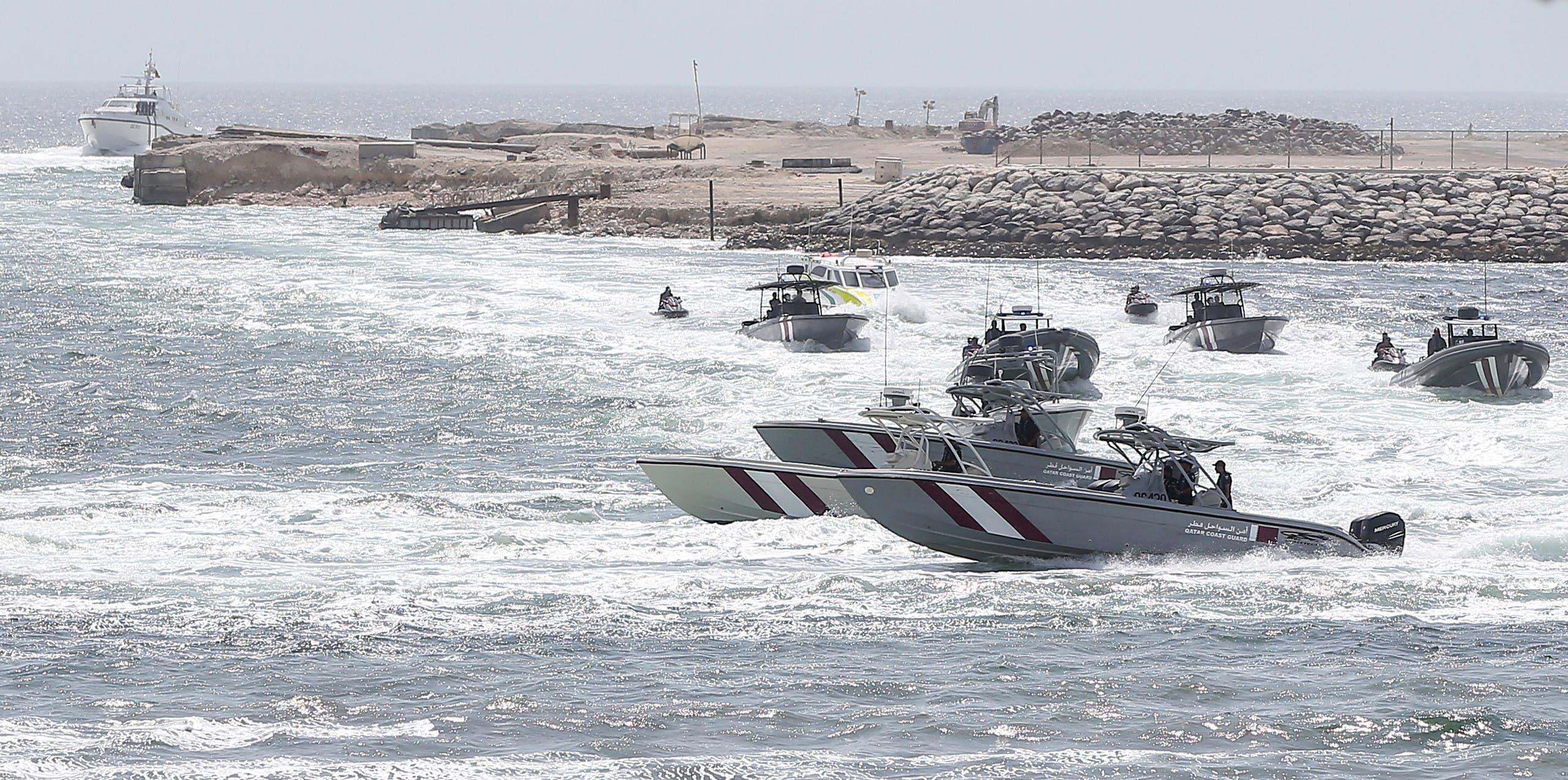 زوارق تابعة لخفر السواحل القطري (أرشيفية)