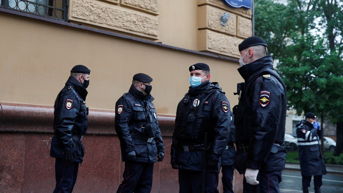 File photo of Russian policemen in Moscow, Russia May 29, 2020. REUTERS/Maxim Shemetov
