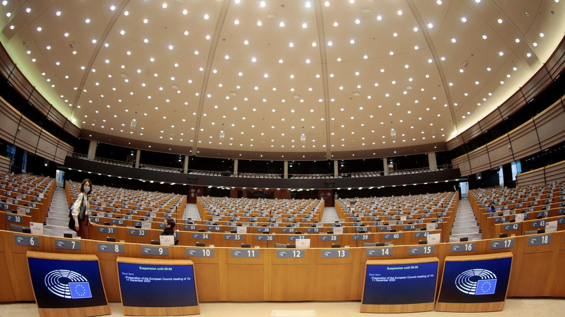 The hemicycle is seen ahead of a debate on next EU council and last Brexit development during a plenary session at the European Parliament in Brussels, Belgium November 25, 2020. Olivier Hoslet/Pool via REUTERS