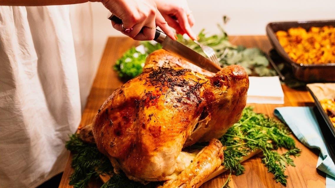 A traditional turkey dinner. (Unsplash / @purzlbaum)