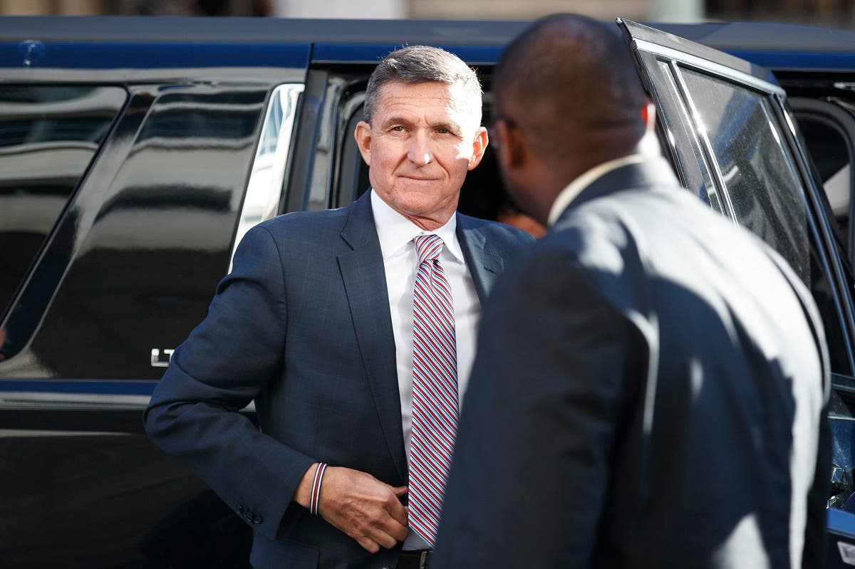 US President Donald Trump's former National Security Advisor Michael Flynn arrives at federal court in Washington, Dec. 18, 2018. (AP)