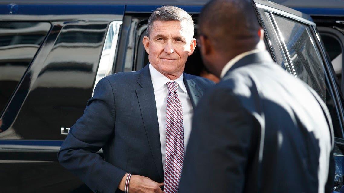 US President Donald Trump's former National Security Advisor Michael Flynn arrives at federal court in Washington, Dec. 18, 2018. (AP)