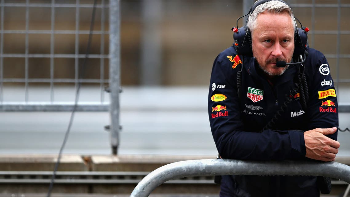 AUSTIN, TX - OCTOBER 19: Red Bull Racing Team Manager Jonathan Wheatley looks on from the pitwall during practice for the United States Formula One Grand Prix at Circuit of The Americas on October 19, 2018 in Austin, United States. Mark Thompson/Getty Images/AFP  Mark Thompson / GETTY IMAGES NORTH AMERICA / Getty Images via AFP