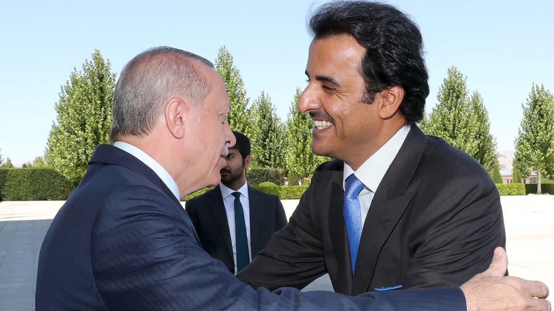 أمير قطر والرئيس التركي (أرشيفية- فرانس برس)