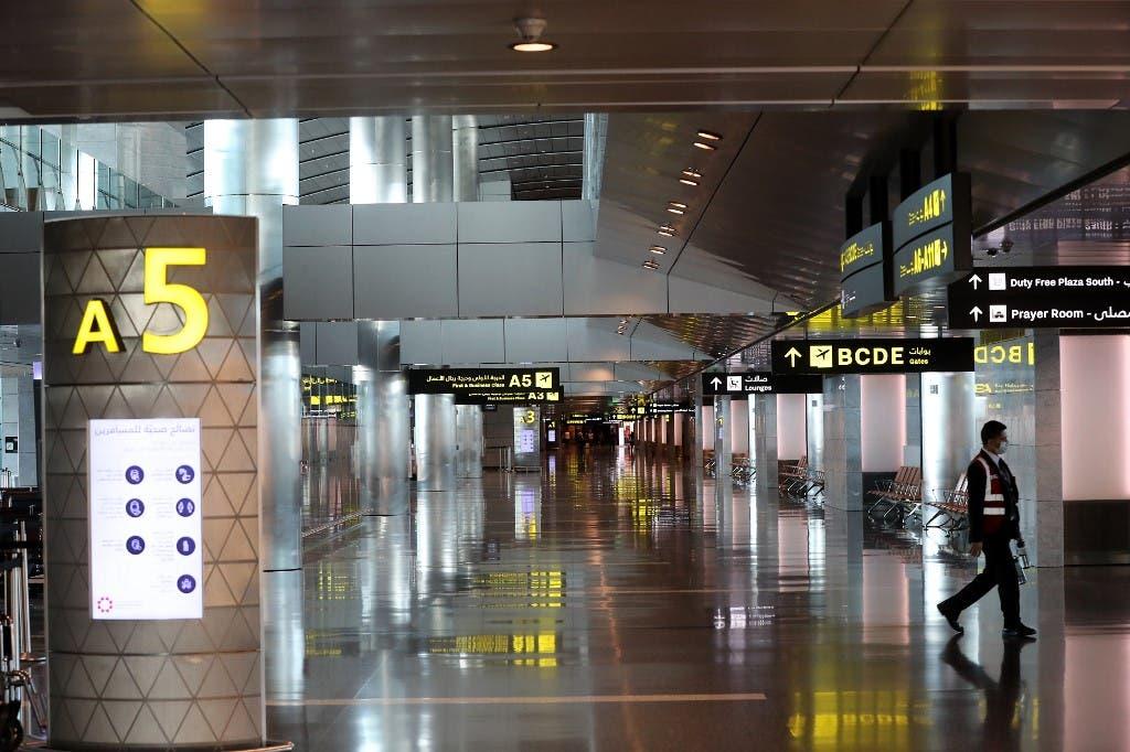 من مطار حمد الدولي في الدوحة - فرانس برس