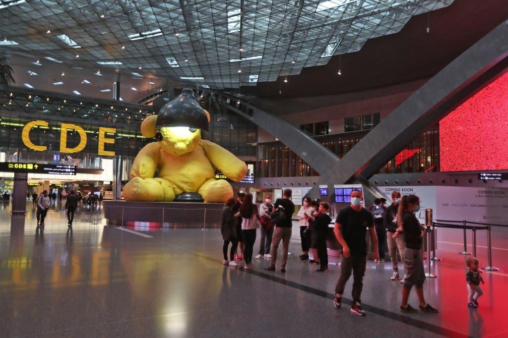 من مطار حمد الدولي في الدوحة (فرانس برس)
