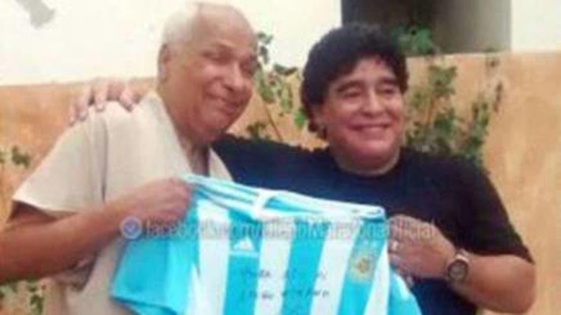 مارادونا وعلي بن ناصر