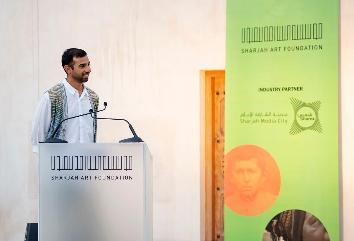 Abdulla Al Kaabi at Sharjah Film Platform 3 Industry Hub Pitching Forum. (Courtesy: Sharjah Art Foundation)