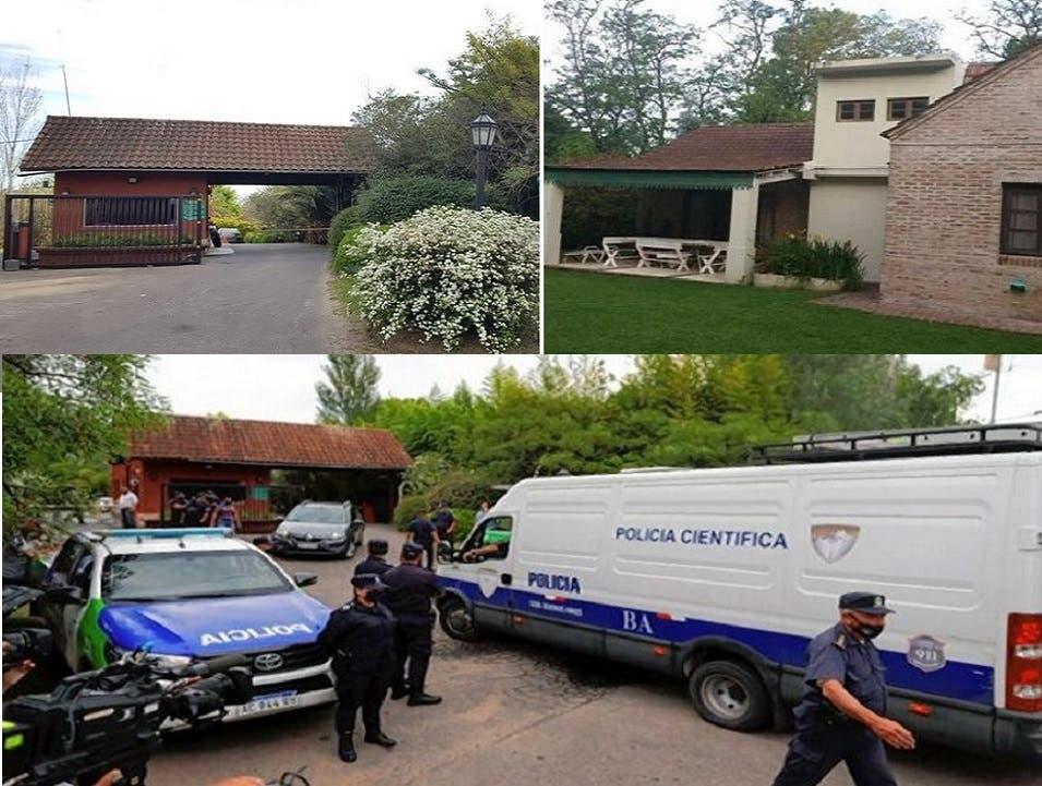 لا تملك وسائل الإعلام الأرجنتينية أي صورة لفيلا مارادونا، سوى بعض قسمها الخلفي، كما لمدخل الحي الواقعة فيه، أما جثته فنقلتها إلى مركز التشريع الطبي سيارات تابعة للشرطة