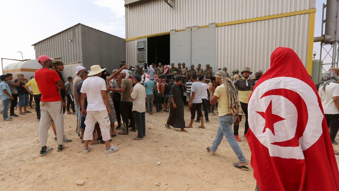 احتجاجات سابقة في تونس(أرشيفية- فرانس برس)