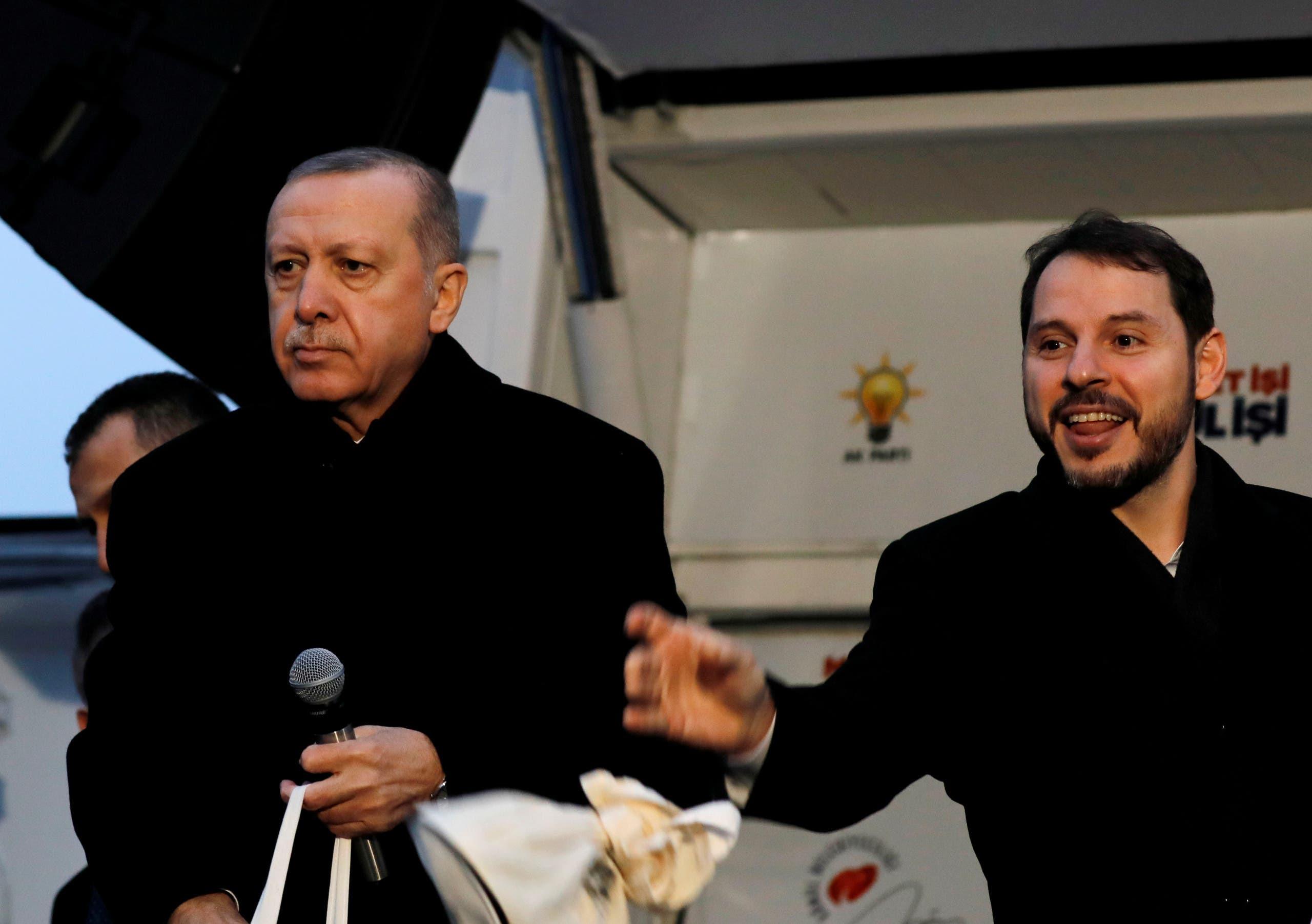 أردوغان مع صهره بيرات البيرق